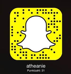 Bild zum adden von Athene bei Snapchat per Smartphone.